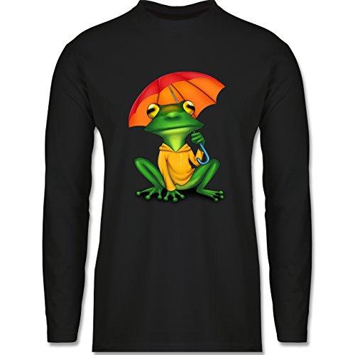 Sonstige Tiere - Wetterfrosch - Longsleeve / langärmeliges T-Shirt für Herren Schwarz