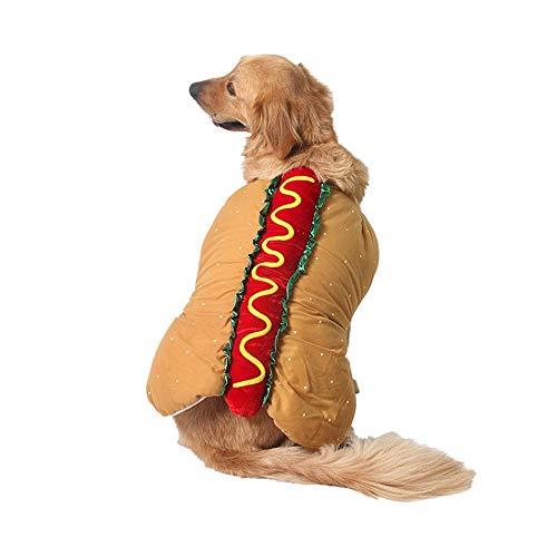 PET Halloween Party Makeover Wärme Karneval Weihnachten Hot Dog Hamburger Lustige Kleidung Costume Pet Kleidung für kleine Hunde (Farbe : Light Brown, größe : M)