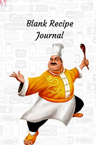 Blank Recipe Journal: Recipe Books to Write in, Recipe Organizer, Blank Cookbook, Recipe Notebook, Homemade Recipe Book, Blank Recipe Book. Chef Cookbook (Vorspeisen Bridal Shower)