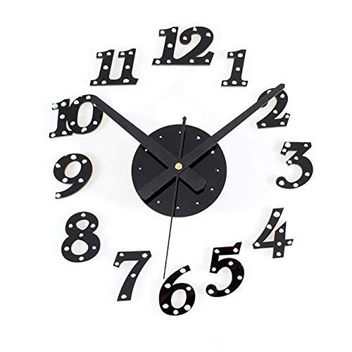til Kreative Wand Dekoration Kreative Uhr - Schlafzimmer Wohnzimmer Moderne DIY Kunst Nieten Digitale Wandaufkleber Selbstklebende Mute Uhr,2 ()