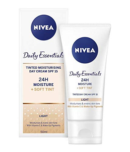 3 x NIVEA® Daily Essentials Tinted Moisturising Day Cream Natural SPF 8 50ml