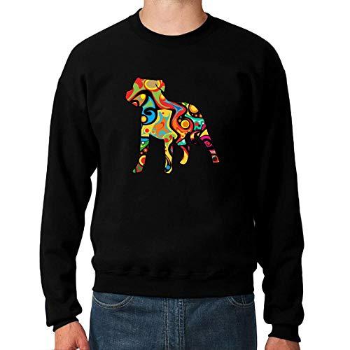 Idakoos Psychedelic Staffordshire Bull Terrier Sweatshirt M Bull Terrier Sweatshirt