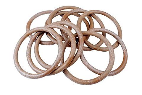 Proops Makramee Ringe Holz Effekt 101mm 10,2cm 10Stück. (s7329) versandkostenfrei innerhalb UK