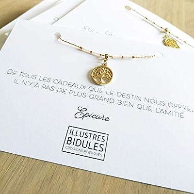 """Bracelet amitié femme, bracelet arbre de vie: Il n'y a pas de plus grand bien que l'amitié"""""""