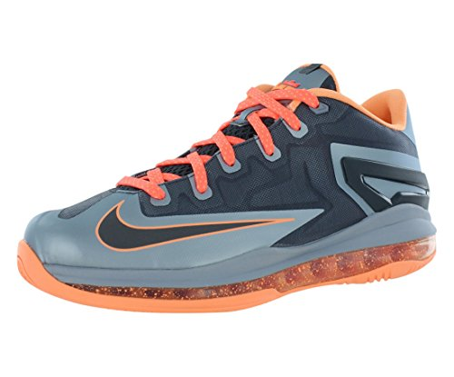 Nike Max Lebron XI Low (GS) Junior 644534-400 Bleu Light Magnet Grey / Dark Magnet Grey-Mango
