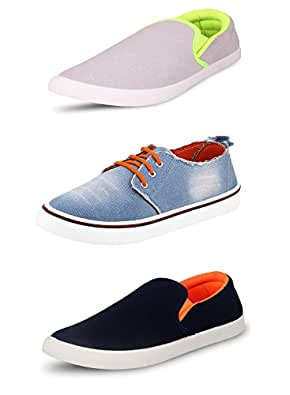 Navchetan Pack Of 3 Men's Loafers & Moccasins & Casual Shoes (7)
