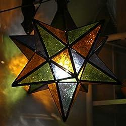 Estrella marroquí Lámpara | orientales marroquí Wind Luz Jardín Wind Luz | marroquí metal Farol para exterior como linterna, Jardín o interior como Farol de mesa