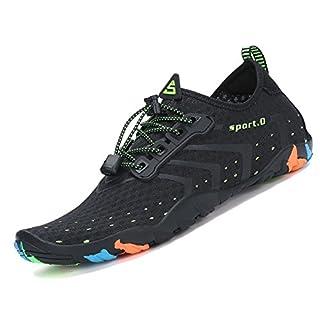 Pastaza Wasserschuhe Schwimmschuh Schnell Trocknend Badeschuhe Strandschuhe Wassersport Schuhe für Herren Damen Unisex,Schwarz,43 EU