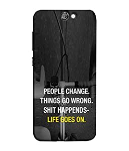 FUSON Designer Back Case Cover for HTC One A9 (Illustration Inspiration Change Motivate )