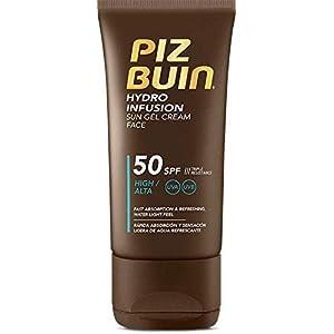 PIZ BUIN Hydro Infusion Crema solar facial, absorción rápida y protección muy alta, SPF 50 – 50 ml