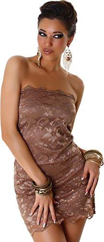Robe mini robe en dentelle de bandeau des femmes Jela London Latte Macchiato
