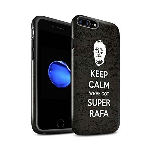 Offiziell Newcastle United FC Hülle / Glanz Harten Stoßfest Case für Apple iPhone 7 Plus / Ruhig Bleiben Muster / NUFC Rafa Benítez Kollektion Ruhig Bleiben