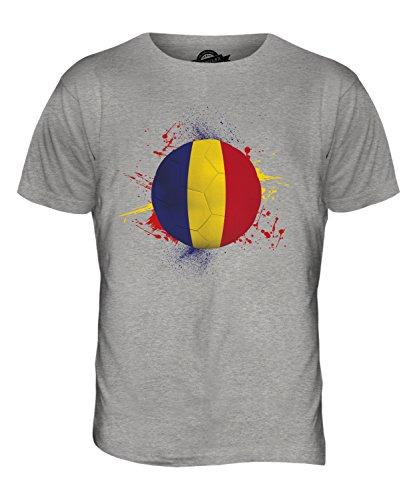 CandyMix Rumänien Fußball Herren T Shirt Grau Meliert