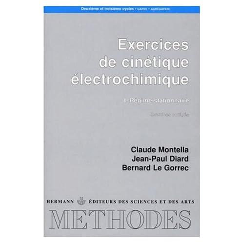 Exercices de cinétique électrochimique, numéro 1, Régime stationnaire