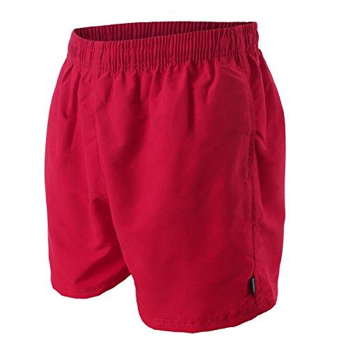 OAHOO - Costume da bagno per uomo - shorts da bagno - qualità celodoro - disponibile in tanti colori alla moda e nelle taglie S-4XL, Rosso scuro, XXXX-Large