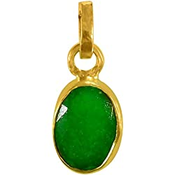 Cultured EMERALD / PANNA Gemstone Pendant (PANCH DHAATU) OF 4.25 RATTI