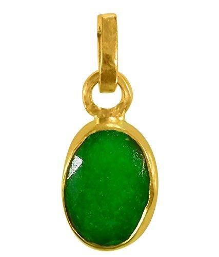 Cultured EMERALD / PANNA Gemstone Pendant (PANCH DHAATU) OF 4.25 RATTI