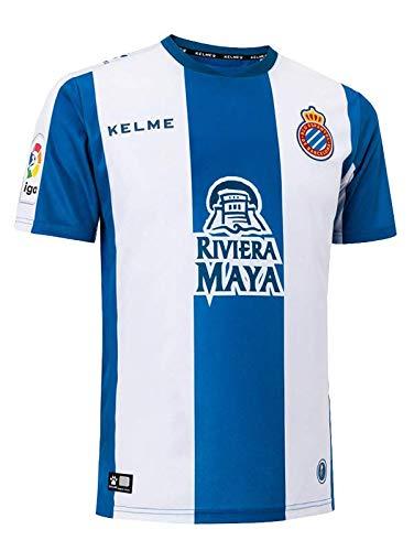 KELME Camiseta de la 1ª equipación del RCD Espanyol 18-19 (M)