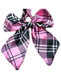 Ladies girls fashion satin bow neck tie cravat 15+ colours party fancy dress: leopard, spotted, stripes by Fat-catz-copy-catz
