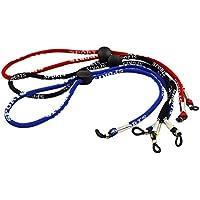 3 cordones para uso como soporte en gafas. Colores negro, rojo y azul