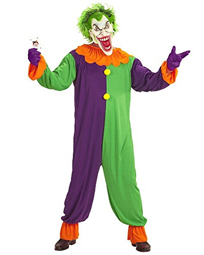 Vari Costume Clown Evil Joker Travestimento Halloween Horror PS 25849-M