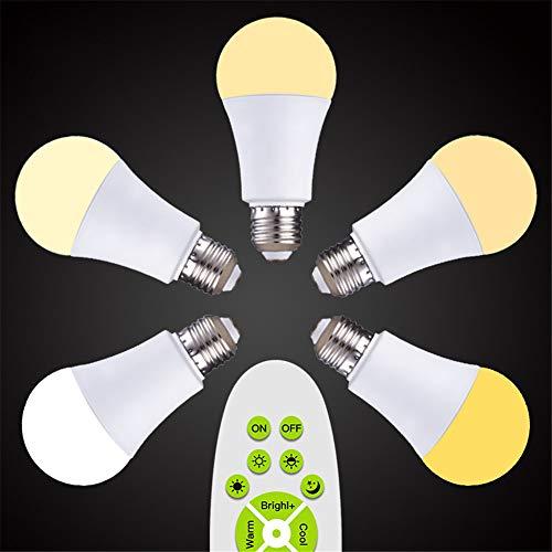 SHELLTB LED-Glühbirnen, Dimmbare LED-Birne Tageslichtweiß, 1100 Lumen, mittlerer Schraubsockel (E27), CRI80 +, 100 Watt-Äquivalent,1pcs -