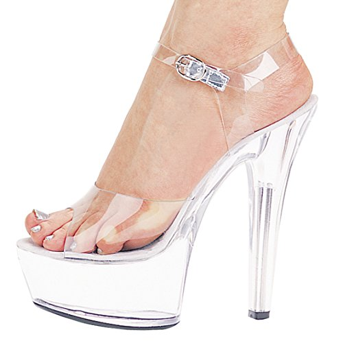 Xing Lin Sandales Pour Dames Chaussures Chaussures De Mode Chaussures Crystal Club 15Cm/ Cm Super High-Heeled Sandals Shoes Show Party transparent