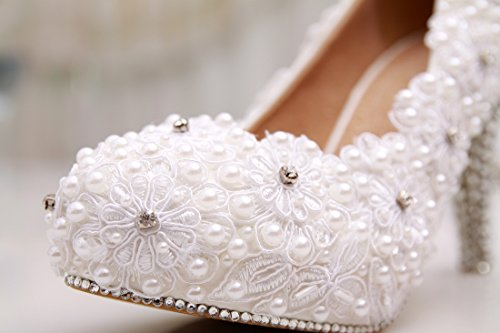 Minitoo , Semelle compensée femme Blanc - White-10cm Heel