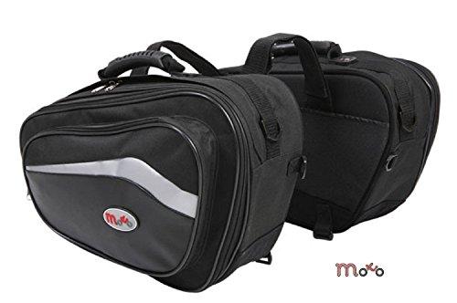 Borse moto scooter borse laterali moto con 44l alla capacità 60l, borse valigie scooter touring borsa nero