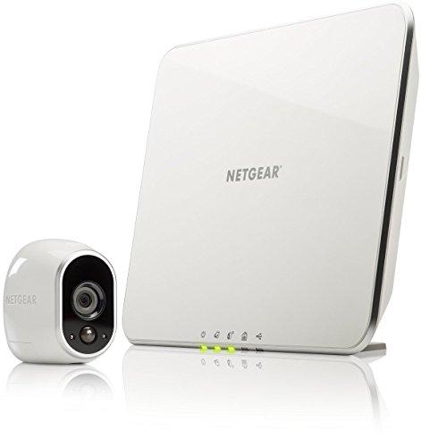 Arlo VMS3130 Sistema di Videosorveglianza Wifi con Una Telecamera di Sicurezza senza Fili a Batteria, Hd, Visione Notturna, Interno/Esterno, App...