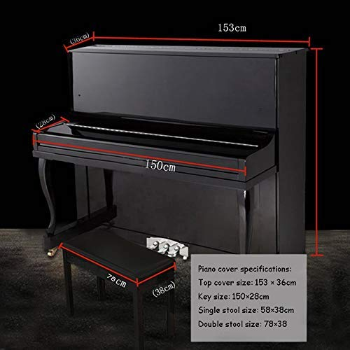 PORTABLE Hohe Qualität Klavier Cover - halbe Abdeckung Klavier Abdeckung Full Cover Dust Cover Moderner Minimalist Tip Nordic, E-Piano (schwarz),78 * 38cm -
