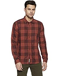 LP Jeans By Louis Philippe Men's Checkered Slim Fit Casual Shirt