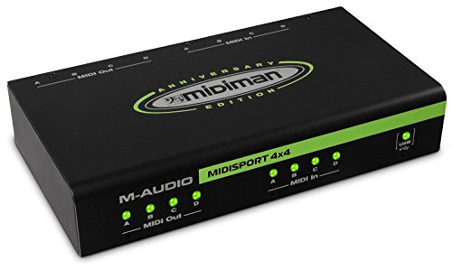 M-Audio Midisport 4X4 Anniversary Edition 4-in/4-out USB MIDI Interface