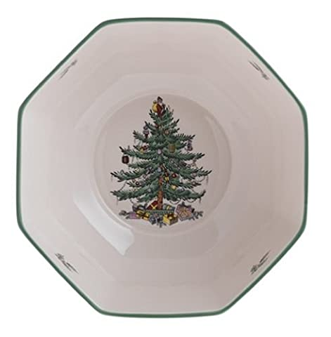Spode Christmas Tree Octagonal Bowl, Medium