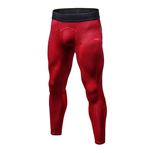 Bmeigo Uomo Workout Leggings 3D Running Exercise Tight Bodybuilding Sport Pantaloni