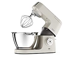 Kenwood KVC5100C Mary Berry Special Edition Chef Elite Stand Mixer, 3 Bowl Tools, Whisk, Dough Hook & K-Beater, Fast Cakes' Recipe Book, Plastic, Cream