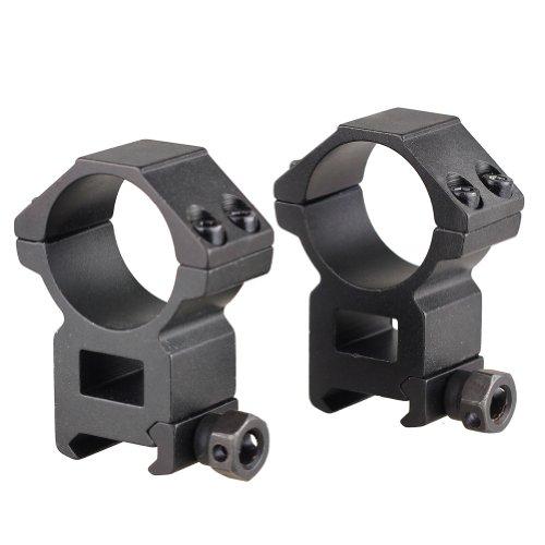VERY100 2 Stück Zielfernrohr Montage 30 x21 mm Riflescope Mount-Ring Gewehr-Montagen Picatinny Weaver Ringe 9mm Sattelhöhe (Zielfernrohrmontagen Stück Einem)