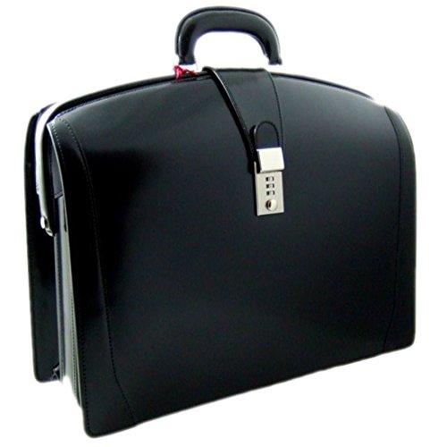 Pratesi Brunelleschi italienischem Leder Laptoptasche - R120/B Radica (Schwarz)