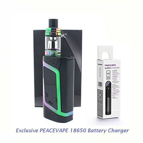 AUTÉNTICO SMOK ALIEN KIT 220W Cigarrillo electrónico 2mL (Negro 7 Colores) con Cargador de 18650 batería PEACEVAPE™ Sin Tabaco - Sin Nicotina