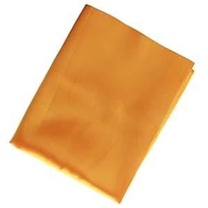 Generic Low-Key Luxury Solid Plain Coloured Silk Satin Multi-Use Cloth in Lustrous - golden, 150 x 96 cm