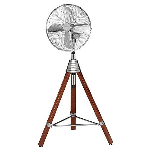 AEG VL 5688 S Retro-Standventilator, Holzstativ, Oszillierend, Durchmesser 40 cm, 3 Laufgeschwindigkeiten, hochwertiges Metallgehäuse, höhenverstellbar