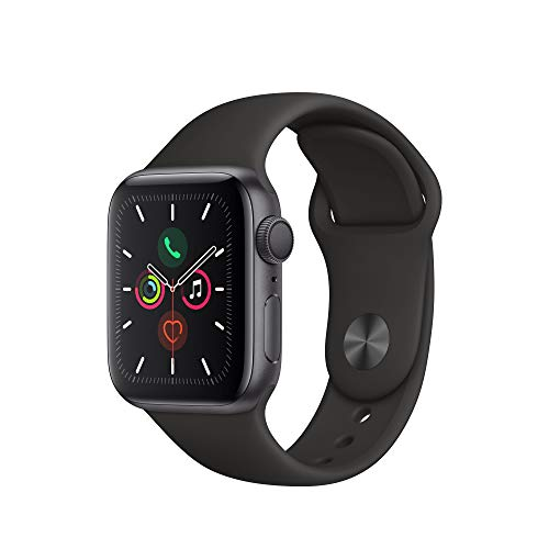 Apple Watch Series 5 (GPS, 40 mm) Aluminiumgehäuse Space Grau - Sportarmband Schwarz