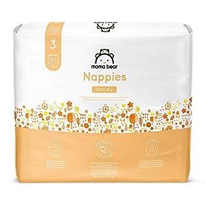 Marchio Amazon- Mama Bear Pannolini ultra-asciutto Taglia 3 (4-9 kg) - con canali d'aria- 184 pannolini (2 confezioni da 92 pannolini)
