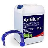 AdBlue Additivo Motori Diesel, ISO 22241, DIN70070, Tanica 10 Lt con Tubo di Riempimento