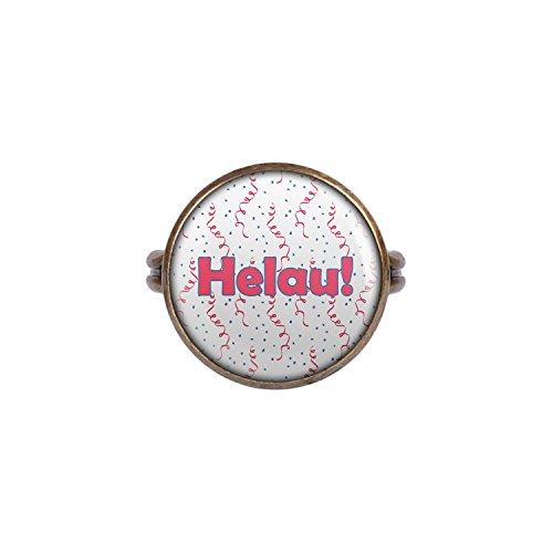 v Helau Karneval Pink Blau Weiß Konfetti bronze 16mm ()