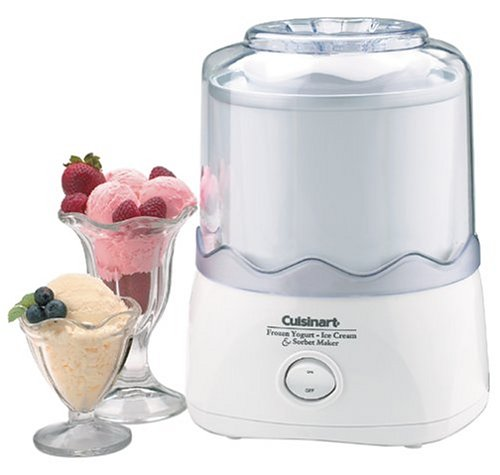 Cuisinart ICE-20 Automatic 1-1/2-Quart Ice Cream Maker, White