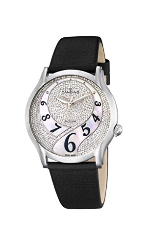 Candino - C4551/2 - Montre Femme - Quartz - Analogique - Bracelet Cuir Noir