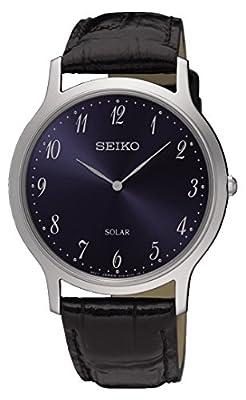 Seiko Reloj Analogico para Hombre de Energía Solar con Correa en Cuero SUP861P1