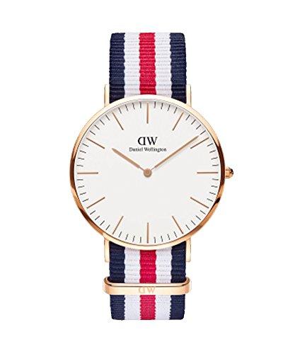 DANIEL WELLINGTON - Reloj de los hombres de 40 mm, DANIEL WELLINGTON CANTERBURY ORO ROSA DW00100002