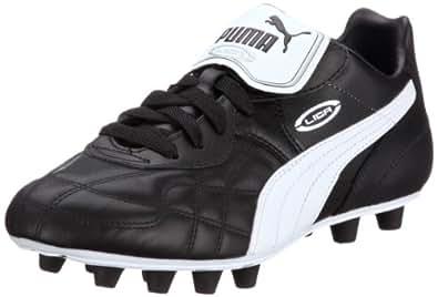 Puma Mens Liga Classic FG Football Shoes Black Schwarz (black-white-puma silver 01) Size: 39